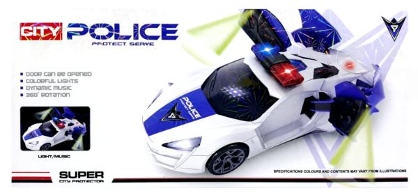 Zabawka Wirujący samochód Policyjny
