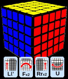 układanie kostki Rubika 5×5